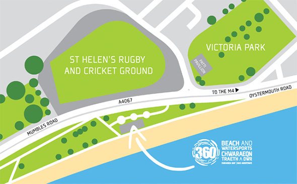 360 Beach & Watersports Centre map